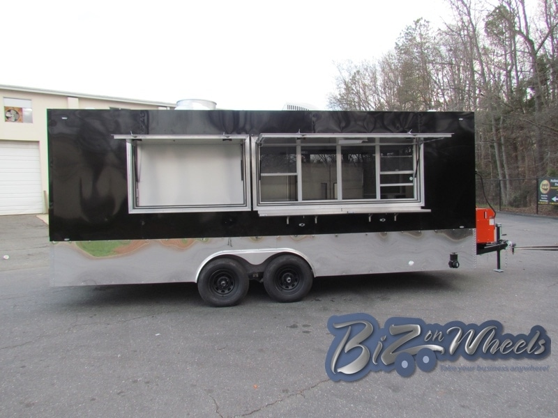Concession Food Trailer 20ft Black With Chrome Trim