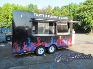 Crazy flip 14 ft food trailer