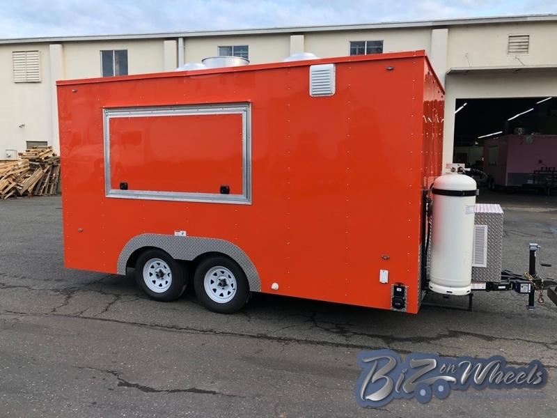 14FT Food Trailer Orange