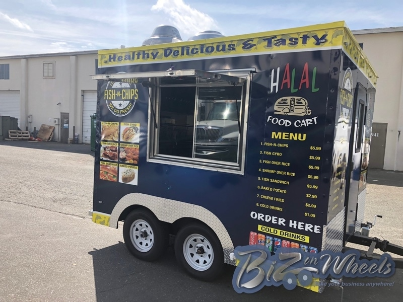 Fish And Chips 10 Ft Trailer Food Trucks Concession