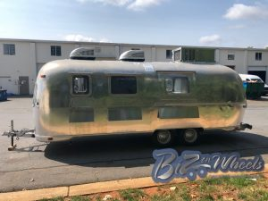 1972 Airstream Custom build into a mobile Crape ,with a walking cooler
