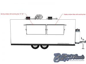 2019 Concession trailer 20FT Long 8.5 Wide 7ft High