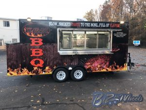 16ft Long 8.5 Wide  BBQ Trailer