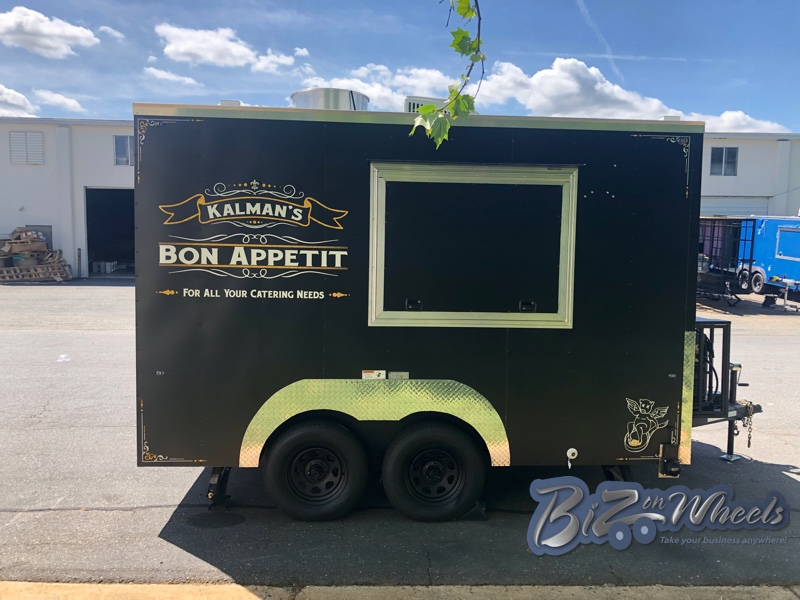 Concession Food Trailer 12FT Matt Black Color