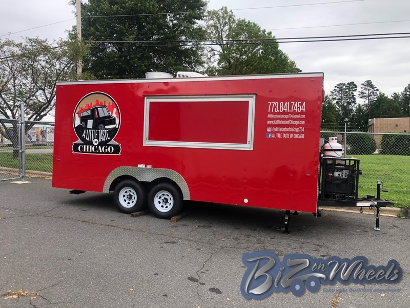 16 ft Long 8.5 wide 7ft high Concession Trailer