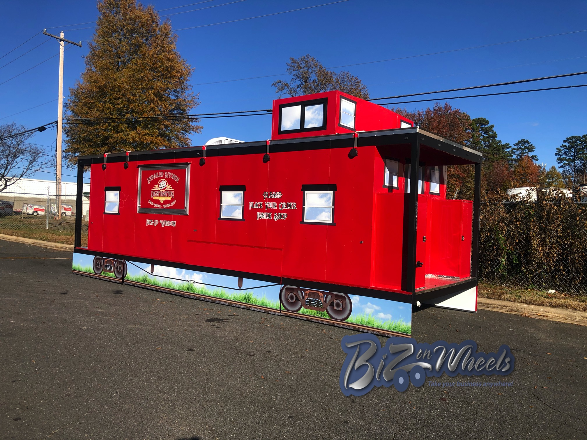 Permanent Location Caboose 28Ft Trailer