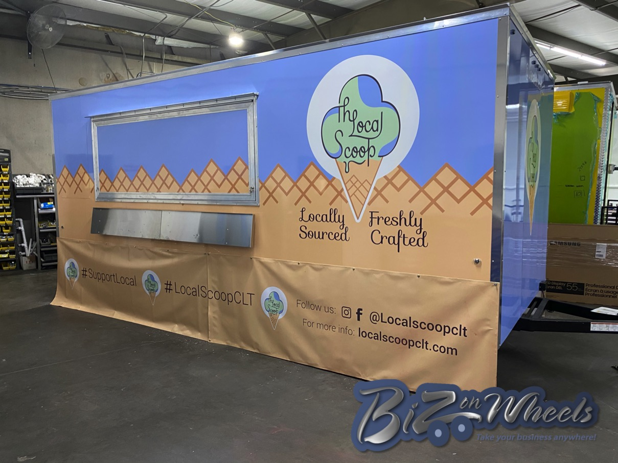 Permanent Location 18ft Ice Cream Trailer