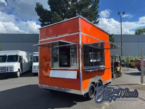 Funnel Cake Concession Trailers 12ft Long With Roof Extensions
