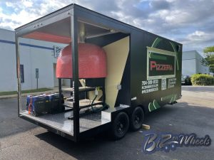 Pizza Trailer Fired Brick Gas/Wood Oven