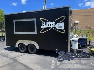 Flipped 16ft Food Trailer